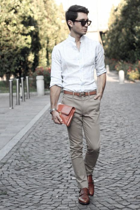 What To Wear With Khaki Pants For Men ... | Business casual men, Mens fashion, Men casual