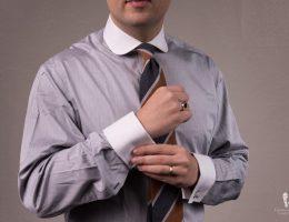 Mode chemises homme - Cols et poignets contrastés