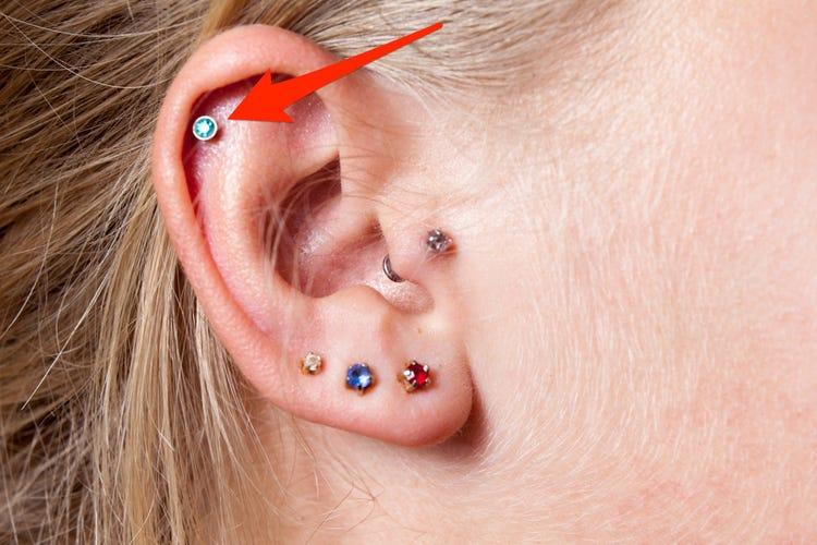 Types courants de piercings d'oreille