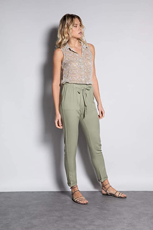Pantalon léger, élégant et pas cher ; Mode tendance femme été 2021